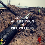 Compressed air for innovative technologies. Cooling after fusion in pipe welding